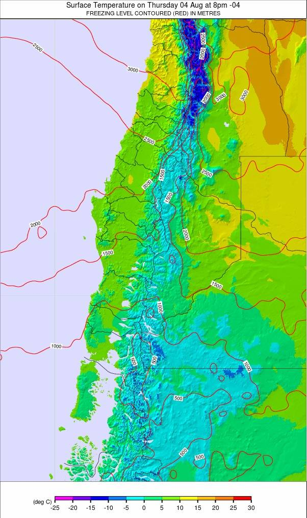 Central Andes weather map - click to go back to main thumbnail page