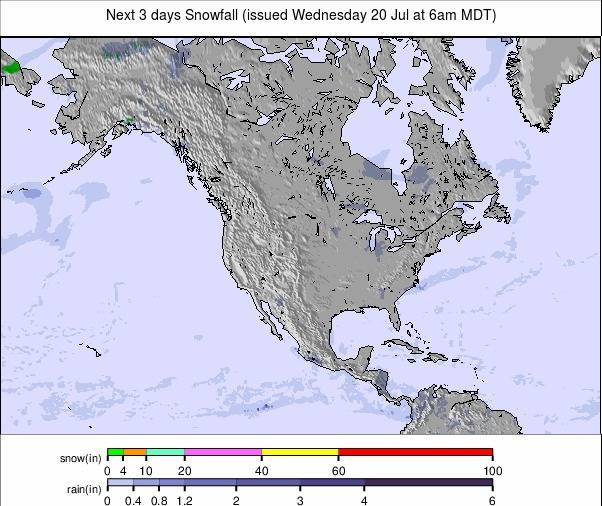 Precipitation maps North America #USA #weather (Precipitatii Statele Unite in urmatoarele 3 zile)