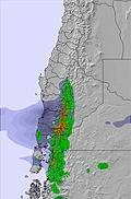 Central Andes snow map