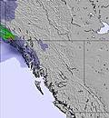 West Canada snow map