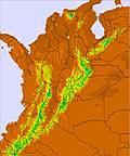 Κολομβία temperature map
