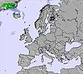 Europe snow map