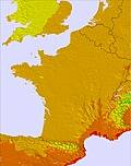 France temperature map