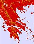 Greika temperature map