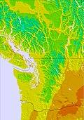 Washington / Vancouver temperature map