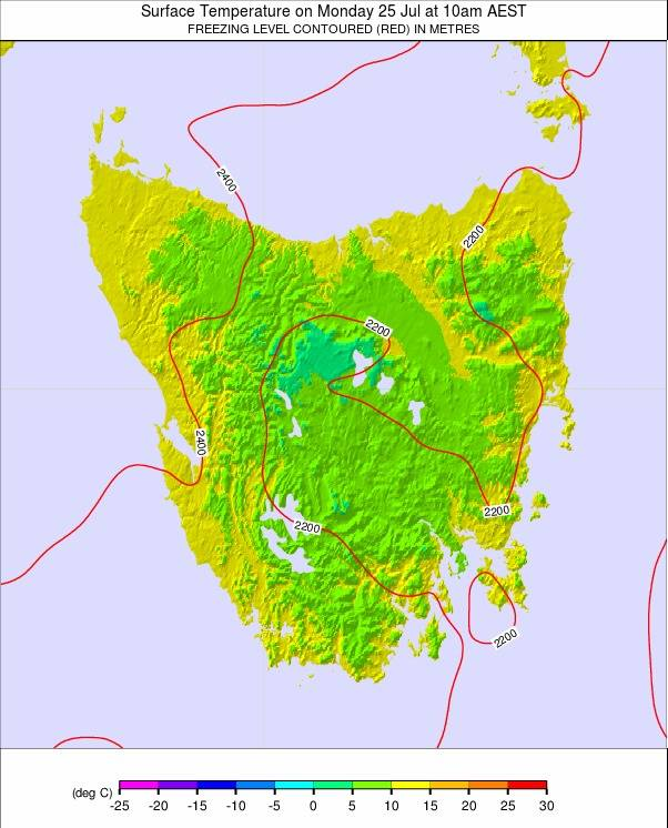 Tasmania weather map - click to go back to main thumbnail page