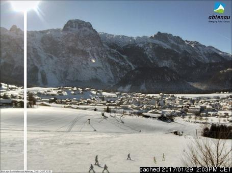 Abtenau webcam at 2pm yesterday
