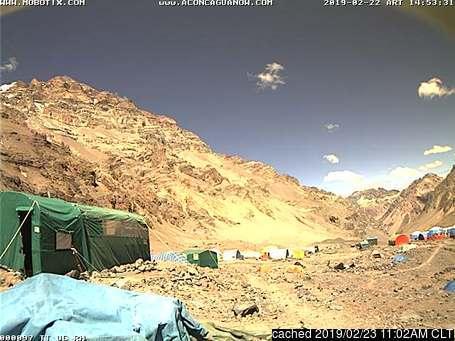 Aconcagua webcam op lunchtijd vandaag