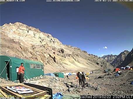 Aconcagua webkamera ze včerejška ve 14 hod.