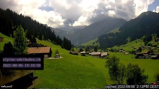 Adelboden webcam at lunchtime today