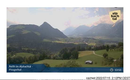 Alpbachtal webcam at 2pm yesterday