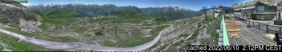 Alpe d'Huez webcam at 2pm yesterday