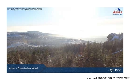 Arber webcam at 2pm yesterday