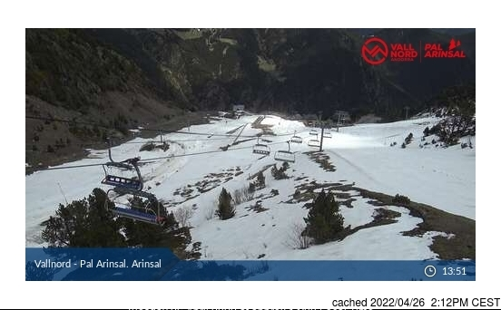 Vallnord-Arinsal webcam at 2pm yesterday