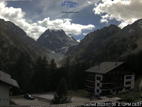 Arolla webcam at 2pm yesterday