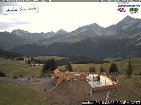 Arosa webcam all'ora di pranzo di oggi