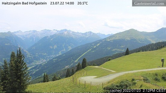 Bad Hofgastein webcam at 2pm yesterday