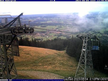 Bad Kohlgrub webkamera ze včerejška ve 14 hod.
