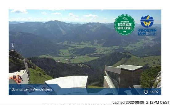 Bayrischzell-Brannenburg/Wendelstein webcam at 2pm yesterday