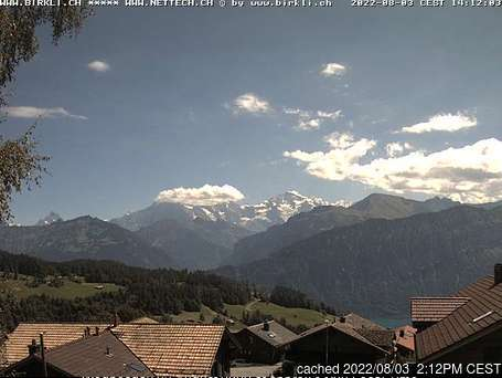 Beatenberg webcam at 2pm yesterday