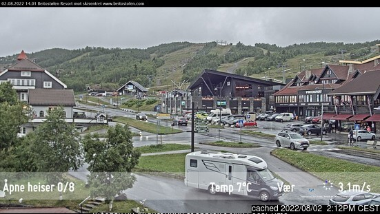 Beitostølen webcam at 2pm yesterday