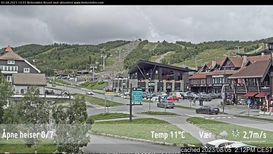 Beitostølen webcam om 2uur s'middags vandaag