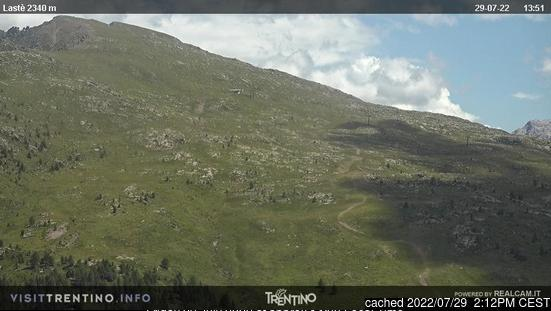 Ski Area Alpe Lusia webcam at lunchtime today