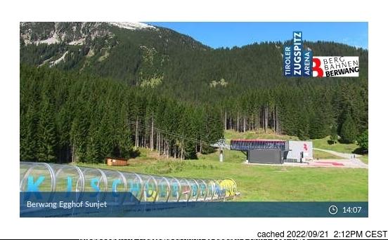 Berwang-Bichlbach-Rinnen webcam at lunchtime today