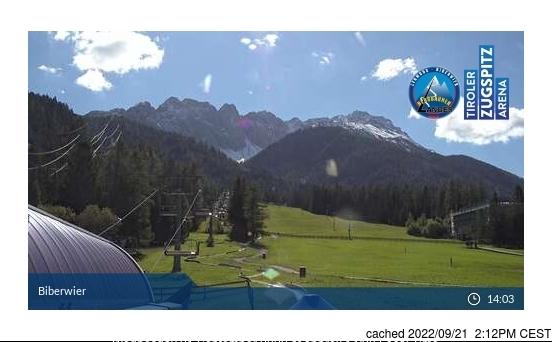 Biberwier webcam hoje à hora de almoço