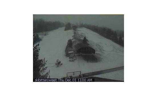 Bittersweet Ski Area webcam at 2pm yesterday