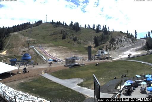 Bogus Basin webbkamera vid kl 14.00 igår