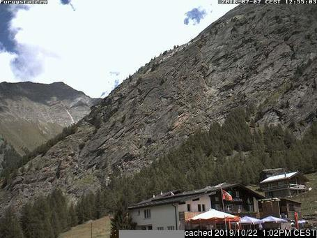 Rosswald - Brig webcam at lunchtime today