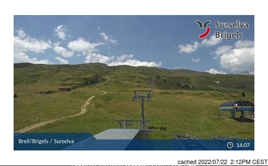 Brigels-Waltensburg-Andiast webcam at lunchtime today