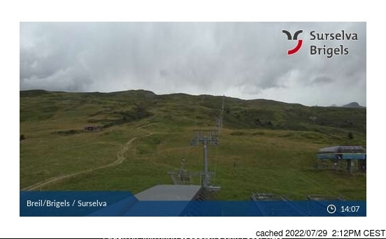 Brigels-Waltensburg-Andiast webcam at 2pm yesterday