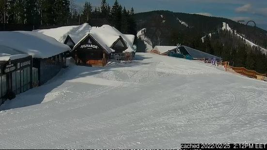 Bukovel webcam at 2pm yesterday