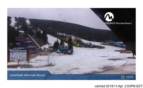 Camelback Ski Area webcam at 2pm yesterday