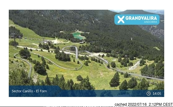 Grandvalira-Canillo webcam at lunchtime today
