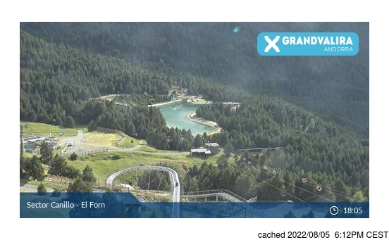 Live webcam per Grandvalira-Canillo se disponibile