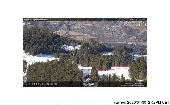 Cavalese webcam at lunchtime today