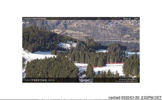 Alpe Cermis-Cavalese webcam all'ora di pranzo di oggi