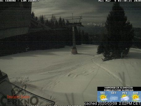 Cerkno webcam at lunchtime today