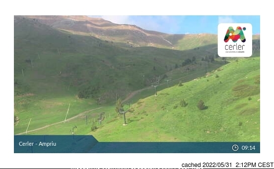 dün saat 14:00'te Cerler'deki webcam