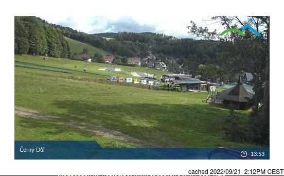 Černý Důl webcam heute beim Mittagessen