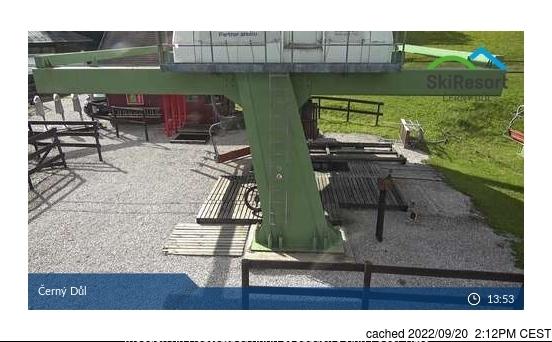Webcam de Černý Důl a las 2 de la tarde hoy
