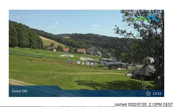 Černý Důl webcam at 2pm yesterday