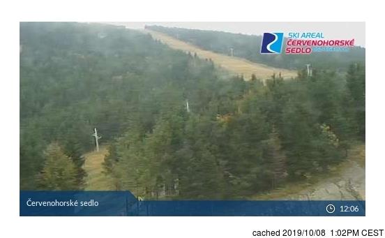 dün saat 14:00'te Červenohorské Sedlo'deki webcam