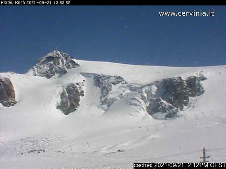 Breuil-Cervinia Valtournenche webcam at 2pm yesterday