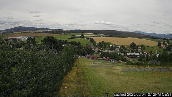 České Petrovice webcam at 2pm yesterday