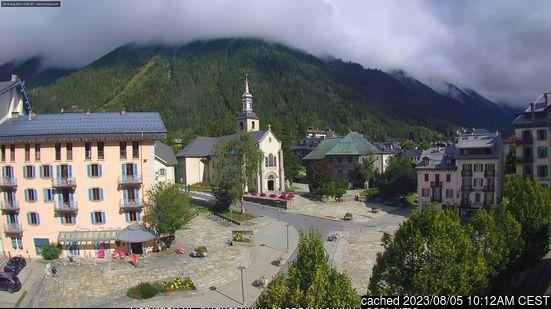 Chamonix webcam hoje à hora de almoço