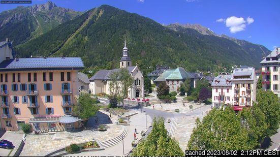Webcam de Chamonix à midi aujourd'hui